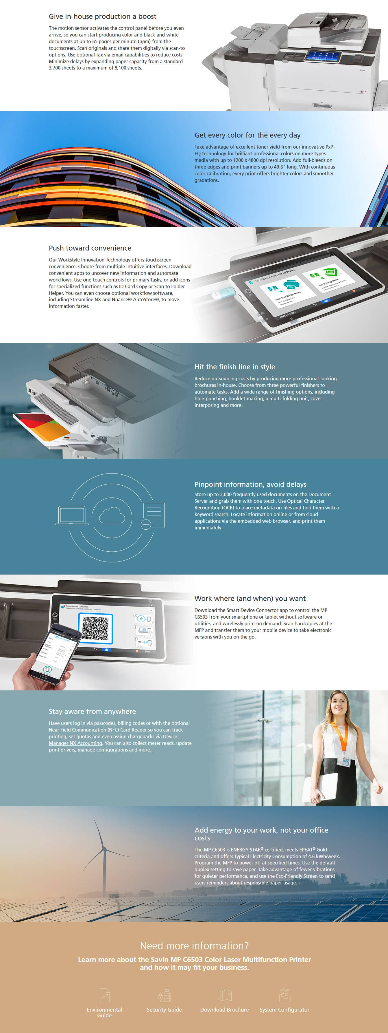 Savin MP C6503 Color Laser Multifunction Printer 6