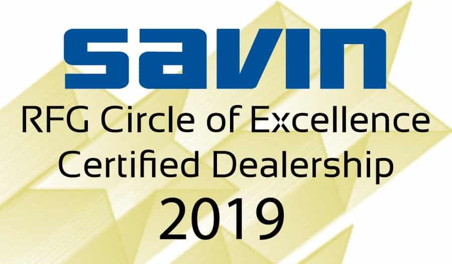 Savin Brand 2019 COE Logo 3inch