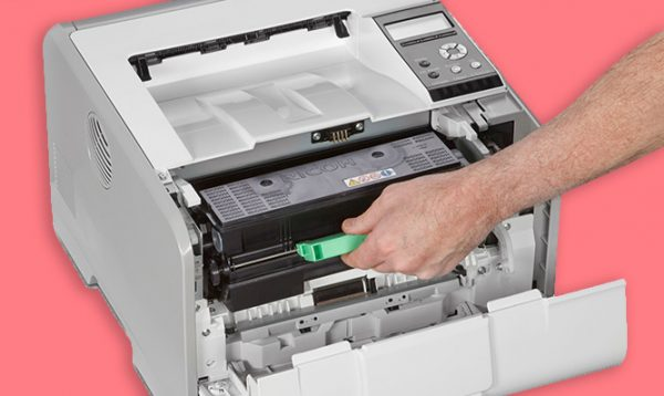 Savin SP 3600DN Black and White Printer 2